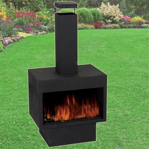 Garden Wood Burner Chimney Metal Chiminea Log Pit Wood Burner Garden Outdoor