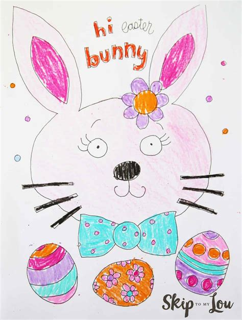 cute easter coloring page skip   lou