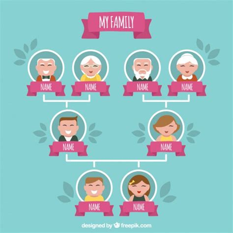 Family Tree Illustration Vector Free Download Family Tree Concept Illustration Vector
