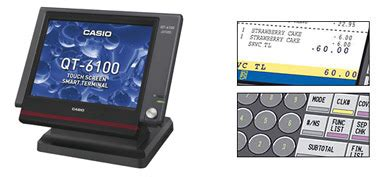 Mesin Kasir Electronic Register Casio Qt 6100 home gt products gt network terminals gt qt 6100