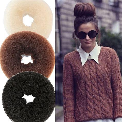 afro hair buns for sale aliexpress com buy 1pc diy pure knitted hair bun hair