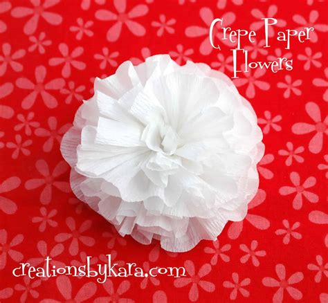 How To Make A With Crepe Paper - crepe paper flower tutorial