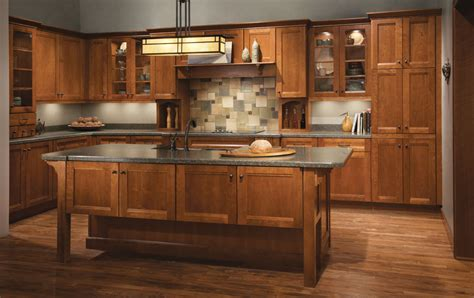 L Shaped Kitchen Islands With Seating Cherry Kitchen In Sunset Featuring Vista Mullion Glass