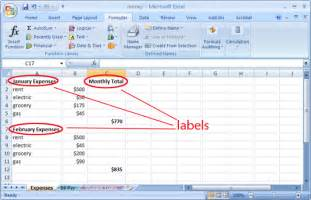 Labels Are Used In A Spreadsheet To Ut Ischool Tutorials Introduction To Excel 2007 Megan