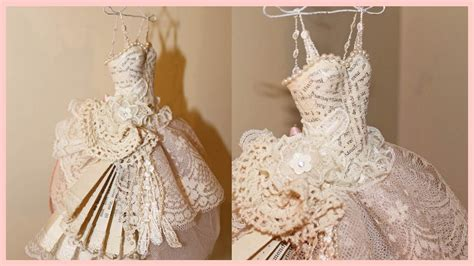 How To Make Clothes Out Of Paper - shabby chic dress paper mache and lace