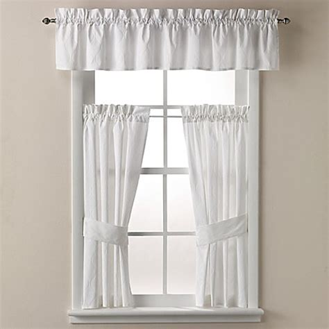 curtains 32 inches long buy wamsutta 174 milano 32 inch x 45 inch window curtain tier