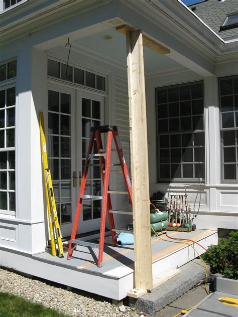 Patio Support Posts by Replacing A Wood Porch Post A Concord Carpenter