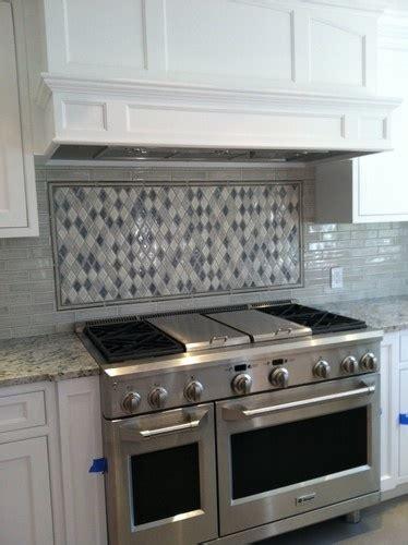 Tile Kitchen Backsplash Photos Diamond Mosiac Pattern Traditional Kitchen Portland