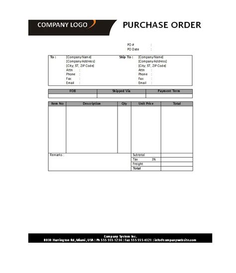 purchase order template word free 39 free purchase order templates in word excel free