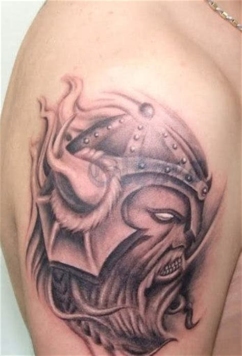 pretty ink tattoo grey ink viking design