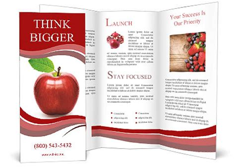 apple brochure templates apple isolated brochure template design id