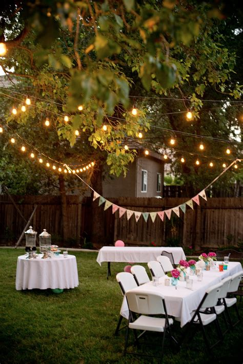 outdoor party domestic fashionista backyard birthday fun pink