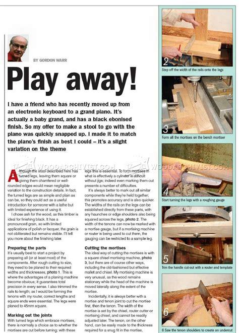piano stool plans woodarchivist