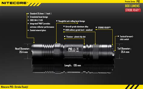 Nitecore P10 Senter Led Cree Xm L2 800 Lumens bundle nitecore p10 led flashlight 800 lumens cree xm