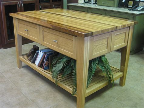 Kitchen Island With Chopping Block Top by Custom Butcher Block Island