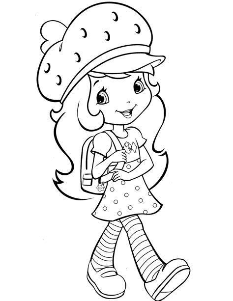 Strawberry Shortcake Coloring Pages Strawberry Shortcake Strawberry Shortcake Characters Coloring Pages