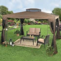 Backyard Patio With Gazebo by Backyard Canopy Gazebo Ideas
