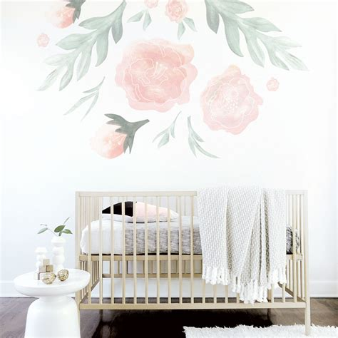 large flower wall decal oversized wall decal for the nursery
