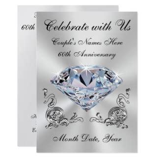 60th wedding anniversary 60th wedding anniversary invitations announcements zazzle