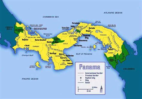 panama city panama map map of panama