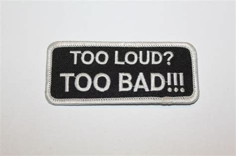 Loud Bad Patch Ebay free quot loud bad quot biker patch new other collectibles listia auctions for