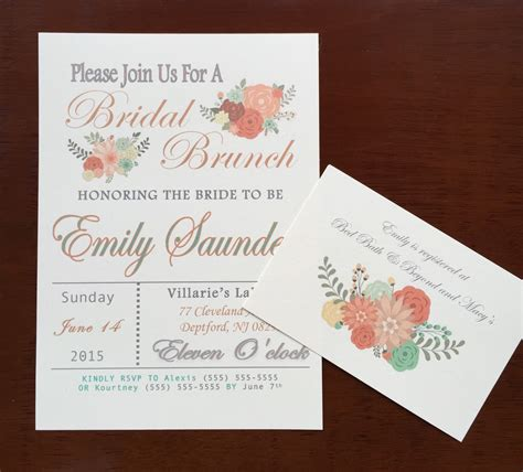invitations for bridal shower luncheon bridal brunch bridal shower invitation