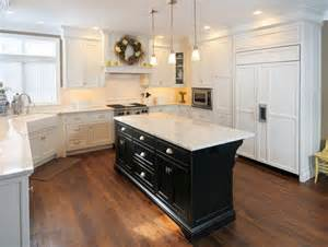 White Kitchen Black Island by White Kitchen With Black Island Traditional Kitchen