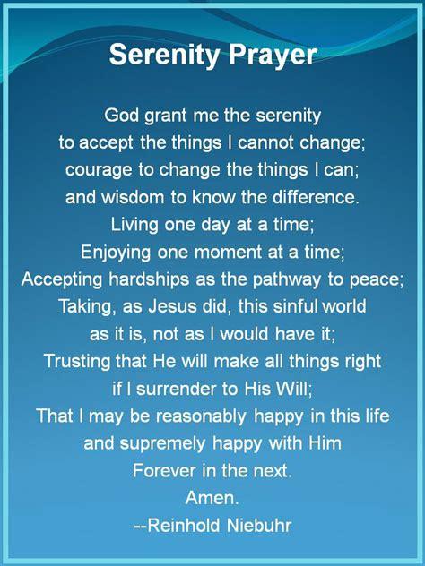 serenity prayer printable version free sweet healthy life serenity courage wisdom