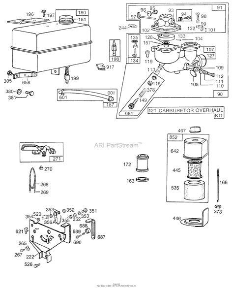 briggs and stratton fuel diagram briggs and stratton 131432 0305 01 parts diagram for