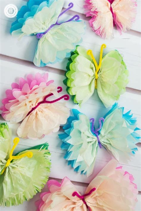 Diy Tissue Paper Crafts - simple and unique diy paper decorations