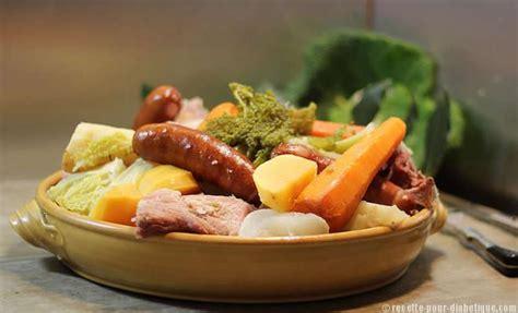 cuisine pour diabetiques et cholesterol pot 233 e auvergnate aux 2 choux