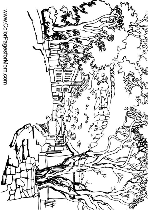 printable coloring pages for adults landscapes free coloring pages of adult landscape