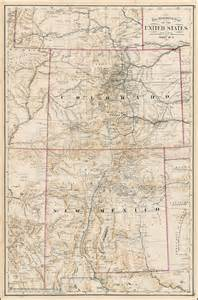 colorado and new mexico map the mammoth map of the united states sheet no 9 colorado