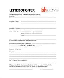 Offer Templates by Property Offer Letter Templates 7 Free Word Pdf Format