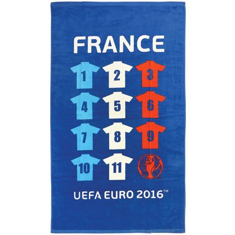 coupe europe football equipe serviette 70 x 120