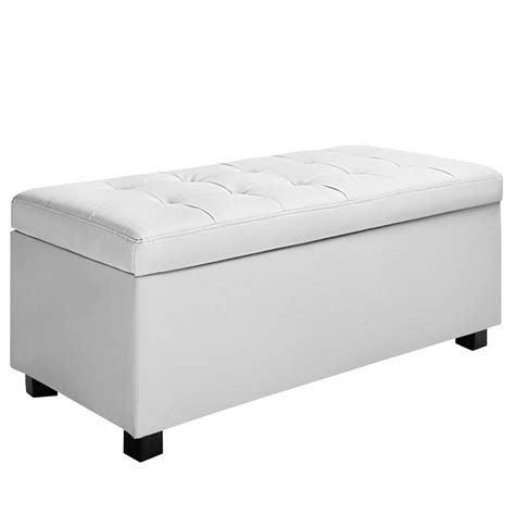 foot of bed storage ottoman oz crazy mall blanket box ottoman storage pu leather foot