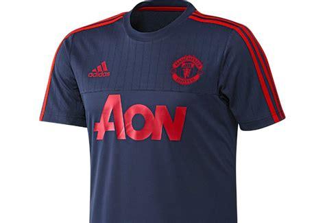 Jersey Mu Aon Blue Adidas Manchester United Fc Jersey Blue