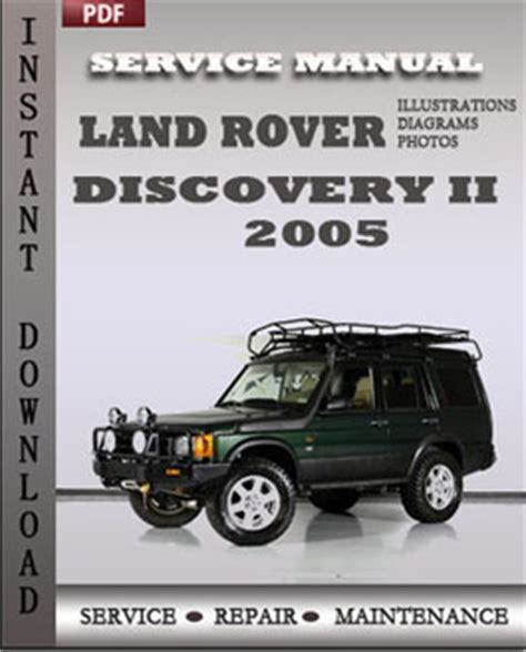 how to download repair manuals 2005 land rover discovery security system land rover discovery 2 2005 workshop repair manual repair service manual pdf