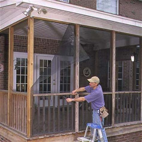 Screened In Porch Repair how to make wood porch screens diy entry bench