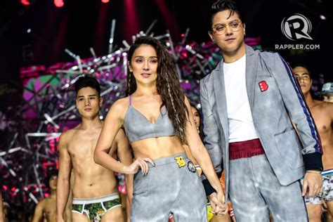 bench fashion show look kathniel gets cozy at the bench under the stars