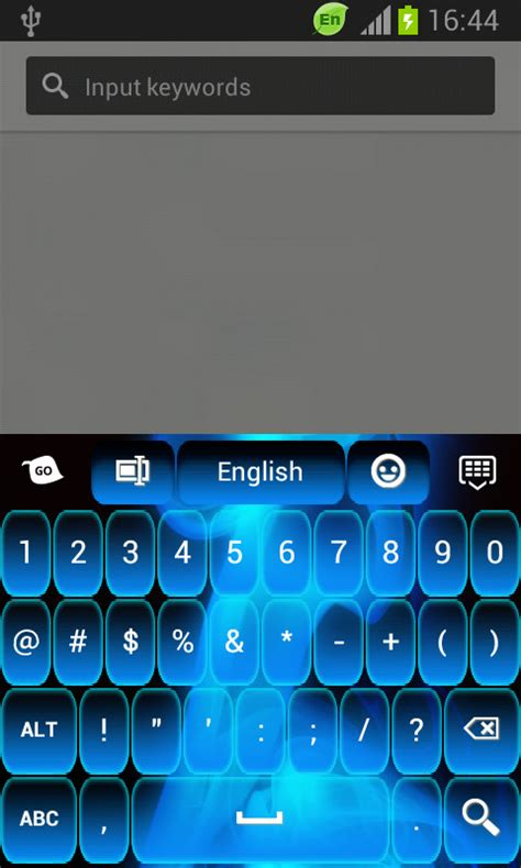 go keyboard themes neon blue go keyboard neon blue black free android keyboard download