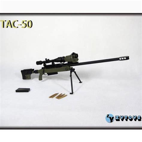 Tac 50 Sniper Rifle Green Skala 1 6 Kitbash Figure Part monkey depot rifle zy toys 1 6 tac 50 green