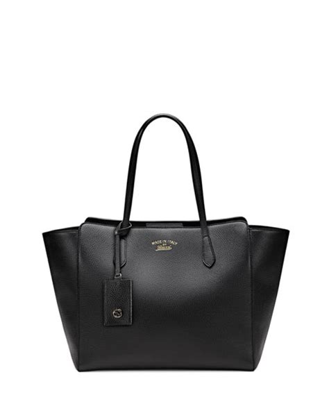 gucci swing bag gucci gucci swing medium tote bag black
