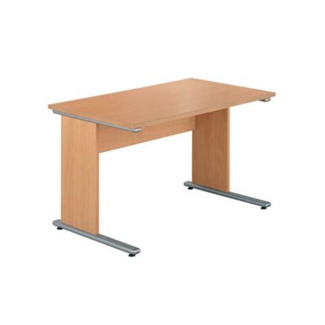 camelot ii rectangular desk 1380mm beech staples 174