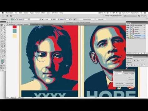 tutorial photoshop obama create an obama style hope poster in adobe illustrator