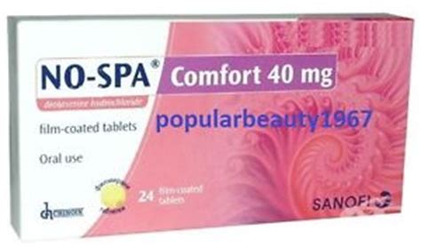 comfort meds no spa comfort 40 mg 24 tabl antispasmodic smooth muscle