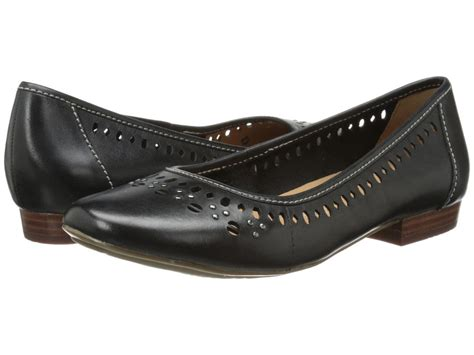clark flat shoes clarks lockney womens black leather 08084 slip on