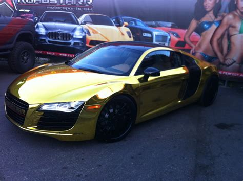 tyga s solid gold audi r8