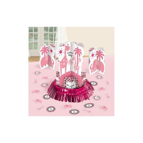 Baby Shower Decorations Kits by Safari Table Decorating Kit Pink Safari Baby Shower