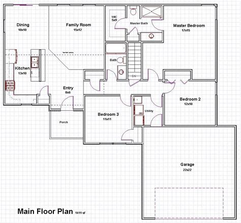 one level house floor plans pictures on one story house plans with open concept free